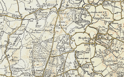 Old map of Lindford in 1897-1909