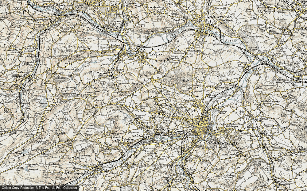 Old Map of Lindley, 1903 in 1903