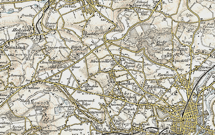 Old map of Lindley in 1903