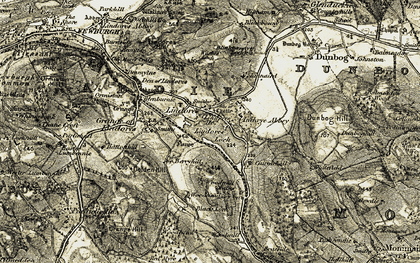 Old map of Lindores Ho in 1906-1908