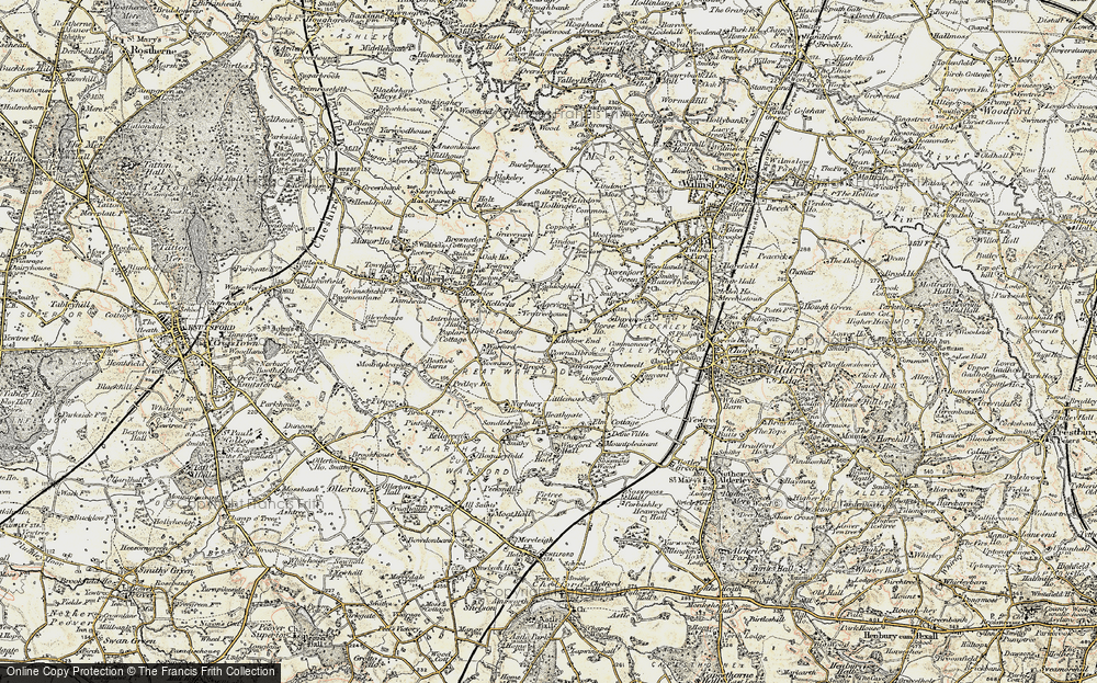 Old Map of Lindow End, 1902-1903 in 1902-1903
