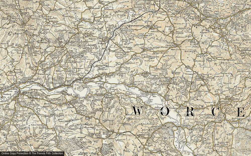 Old Map of Lindridge, 1901-1902 in 1901-1902