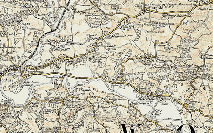 Old map of Lindridge in 1901-1902