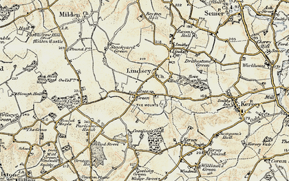 Old map of Lindsey in 1898-1901