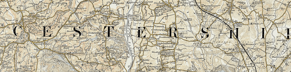 Old map of Wyneyards in 1901-1902