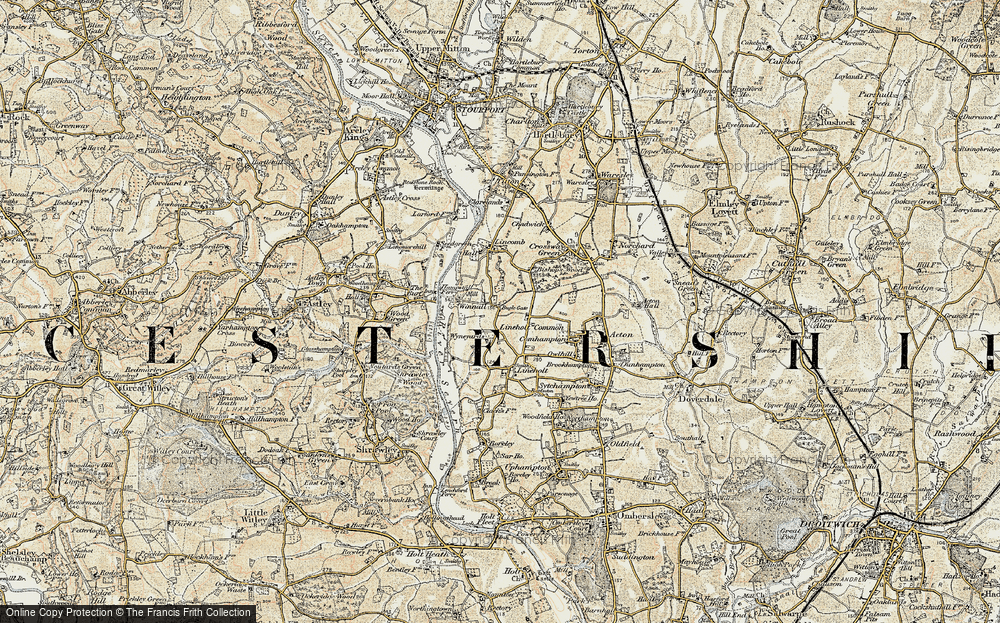 Old Map of Lineholt Common, 1901-1902 in 1901-1902