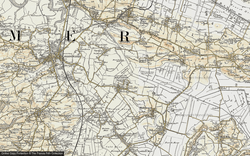 Old Map of Liney, 1898-1900 in 1898-1900
