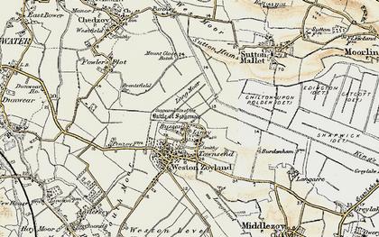 Old map of Lang Moor in 1898-1900