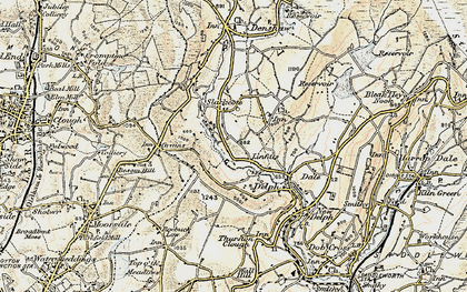 Old map of Linfitts in 1903