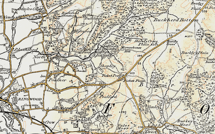 Old map of Linford in 1897-1909