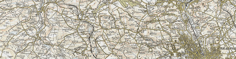 Old map of Lingbob in 1903-1904