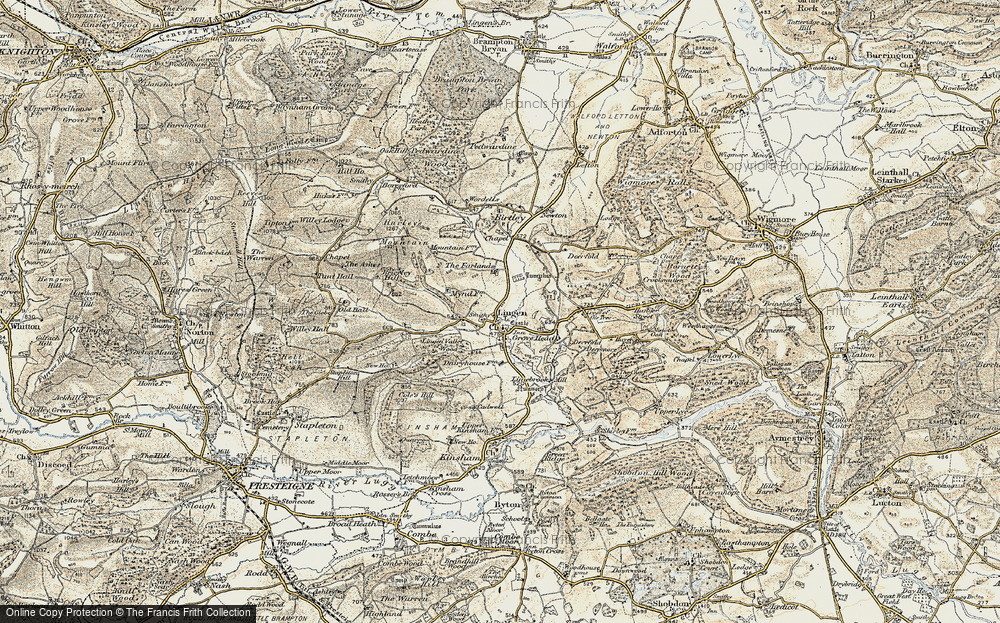 Old Map of Lingen, 1901-1903 in 1901-1903