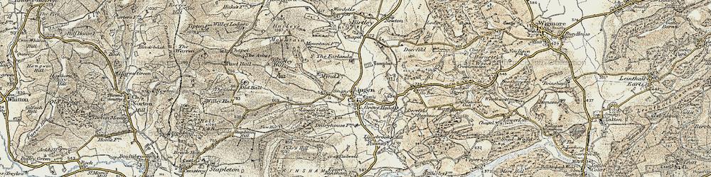 Old map of Lingen in 1901-1903