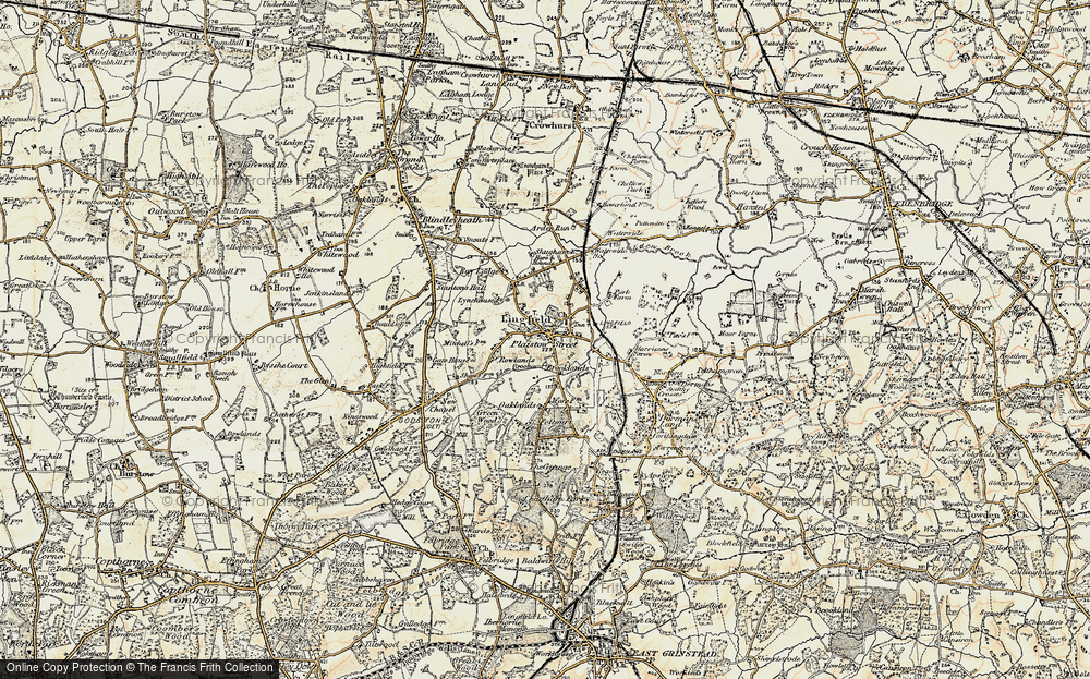 Old Map of Lingfield, 1898-1902 in 1898-1902
