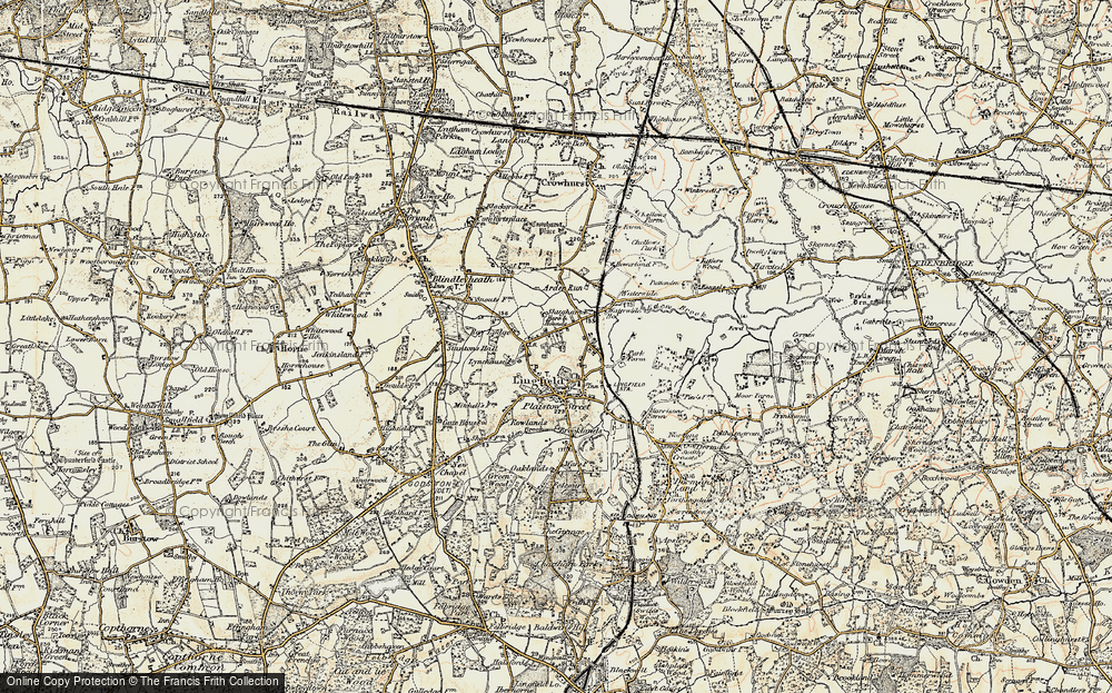 Old Map of Lingfield Common, 1898-1902 in 1898-1902
