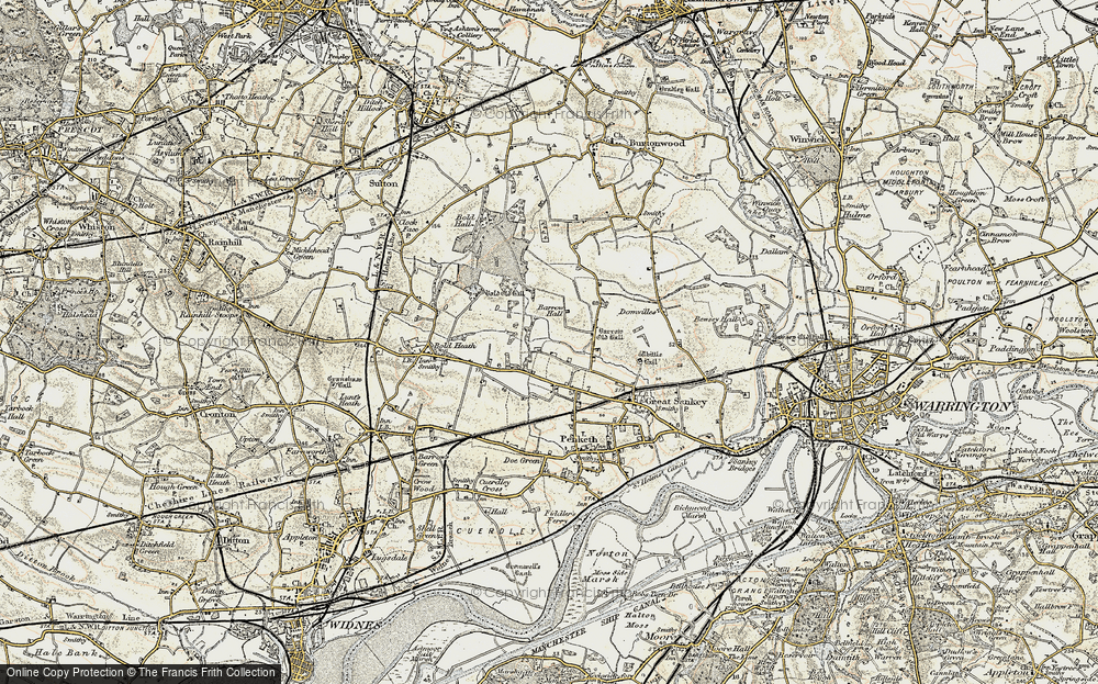 Old Map of Lingley Green, 1903 in 1903