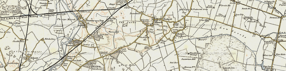 Old map of Lings, The in 1903