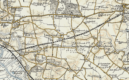 Old map of Lingwood in 1901-1902
