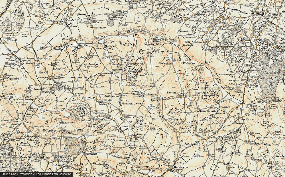 Old Map of Linkenholt, 1897-1900 in 1897-1900