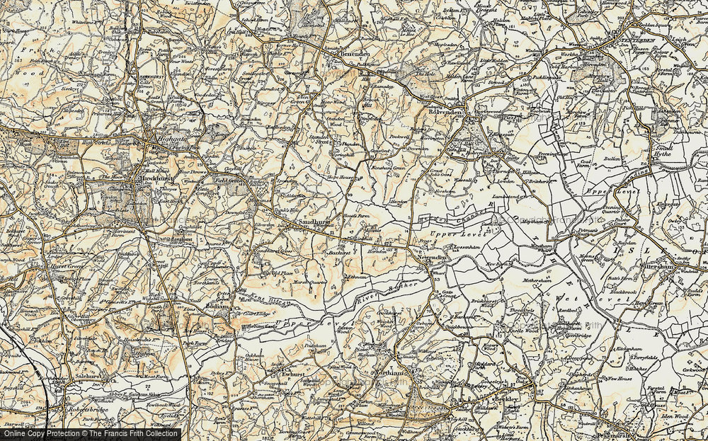 Old Map of Linkhill, 1898 in 1898
