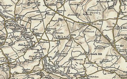 Old map of Linkinhorne in 1899-1900
