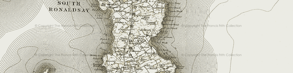 Old map of Wind Wick in 1911-1912