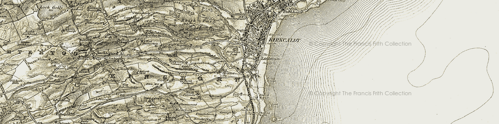 Old map of West Vows in 1903-1906