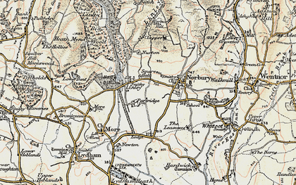 Old map of Linley in 1902-1903