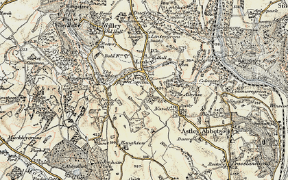 Old map of Linley Brook in 1902
