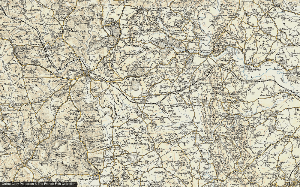 Old Map of Linley Green, 1899-1901 in 1899-1901