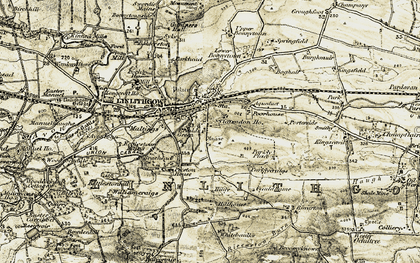 Old map of Linlithgow Loch in 1904-1906