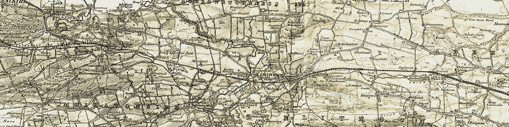 Old map of Linlithgow Bridge in 1904-1906