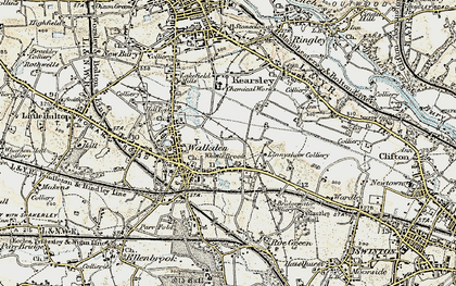 Old map of Linnyshaw in 1903