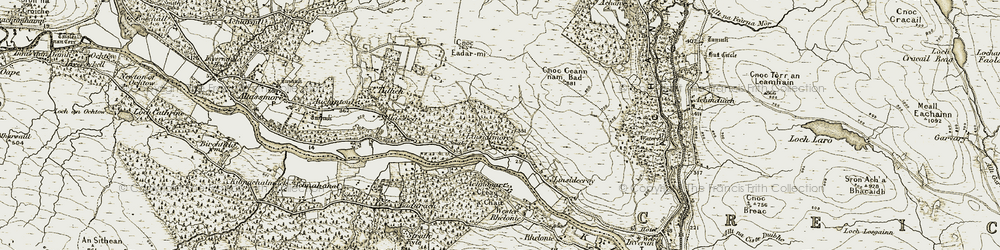 Old map of Achany in 1910-1912