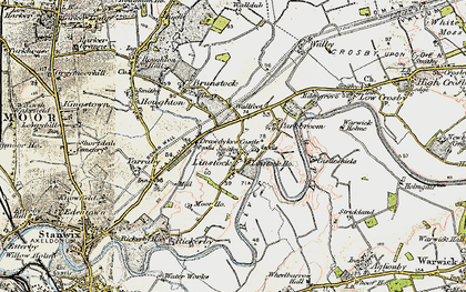 Old map of Linstock in 1901-1904