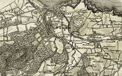 Old map of Tochieneal in 1910
