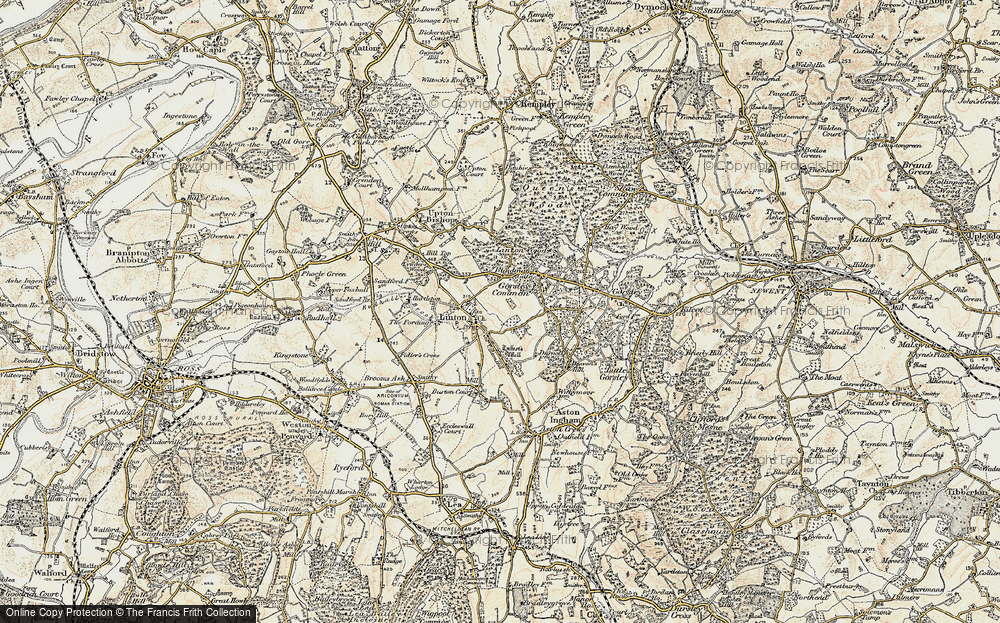 Old Map of Historic Map covering Linton Wood in 1899-1900