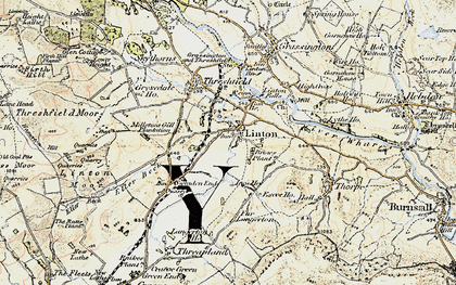 Old map of Linton in 1903-1904
