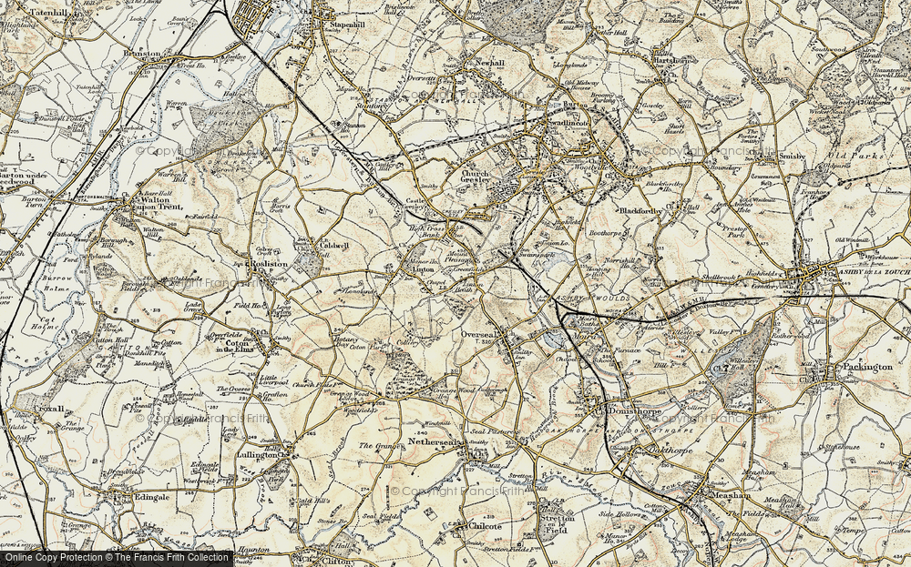 Old Map of Linton Heath, 1902 in 1902
