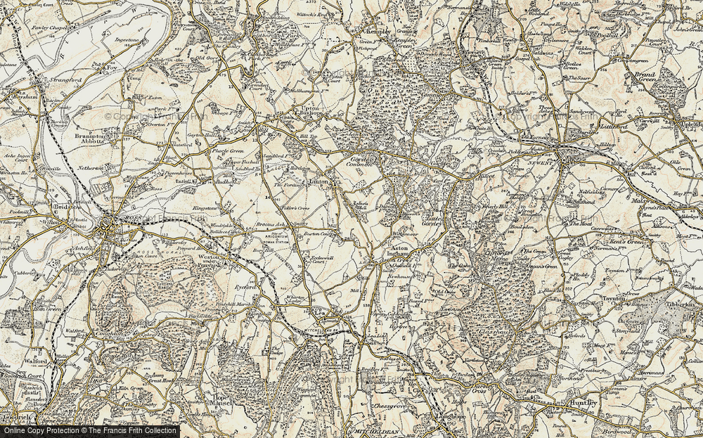 Old Map of Linton Hill, 1899-1900 in 1899-1900