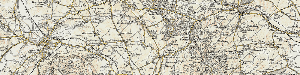 Old map of Linton Hill in 1899-1900