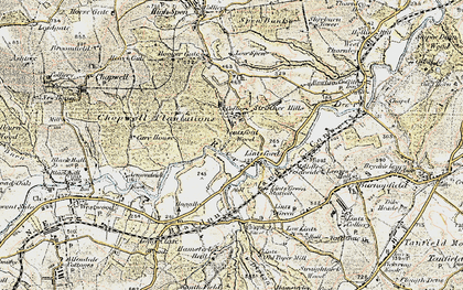 Old map of Lintzford Wood in 1901-1904