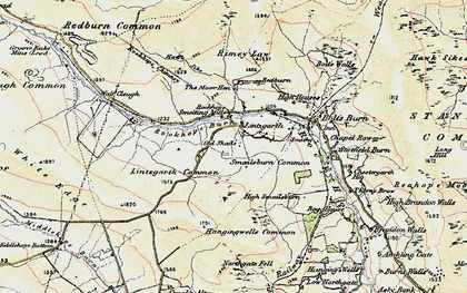 Old map of Bank Foot in 1901-1904
