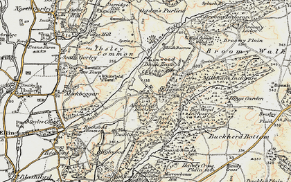 Old map of Linwood in 1897-1909