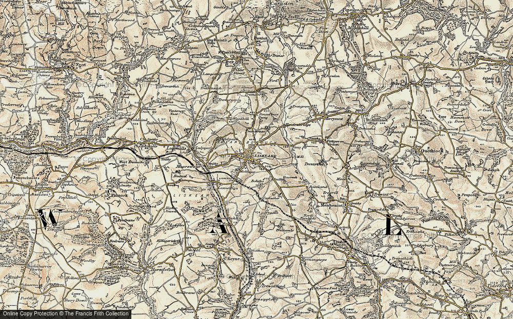 Old Map of Liskeard, 1900 in 1900