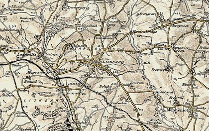 Old map of Liskeard in 1900
