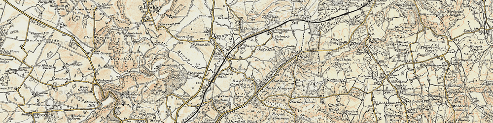 Old map of Liss in 1897-1900