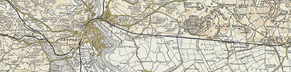 Old map of Liswerry in 1899-1900