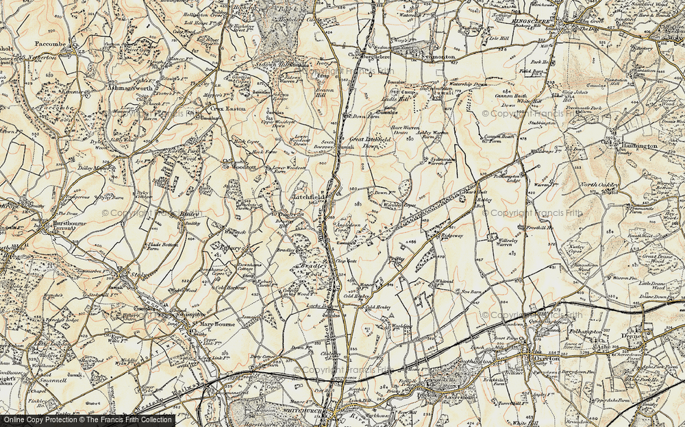 Old Map of Historic Map covering Wormley Copse in 1897-1900