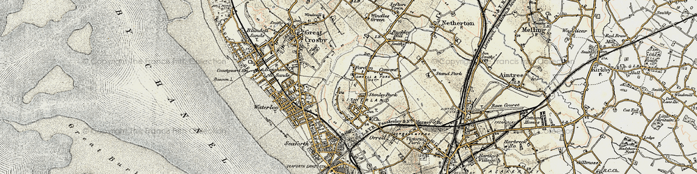 Old map of Litherland in 1902-1903